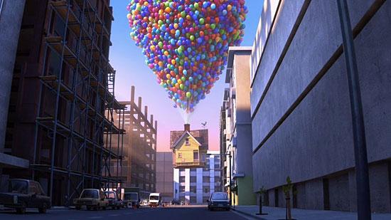 Чтобы поднять в воздух дом, как в мультфильме «Вверх!», нужно 300 воздушных шаров диаметром 2,4 м