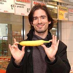 Германец Карл Фридрих Ленце изобрёл машину, которая выпрямляет бананы