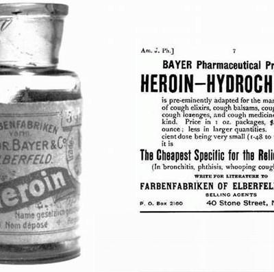 Героин — это бренд, созданный международной фармацевтической компанией Bayer AG