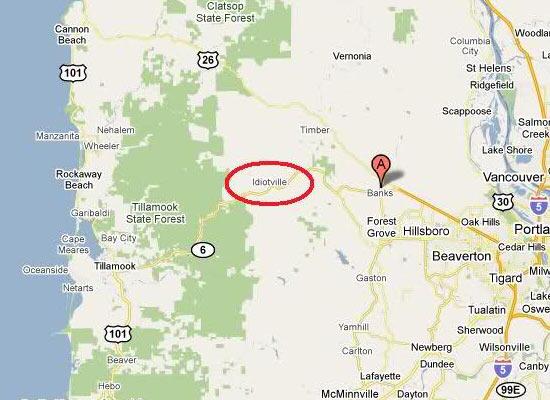 В США есть город-призрак под названием Идиотвилль