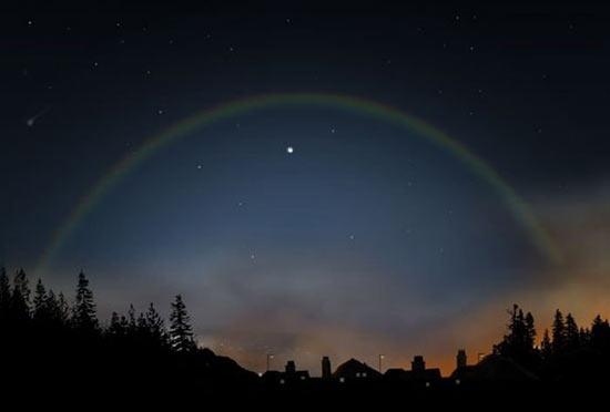 Существует лунная радуга — радуга, порождаемая Луной