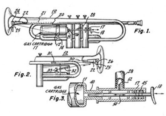 Музыкальный инструмент, извергающий языки пламени