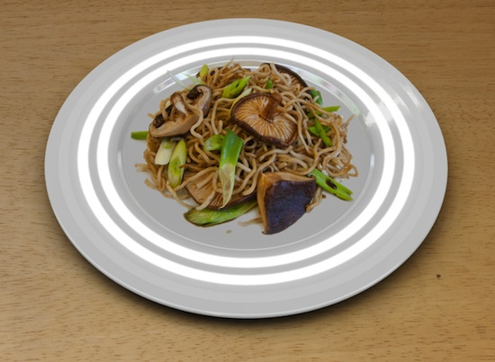 Fukushima plate — это тарелка, которая определяет уровень радиации в еде