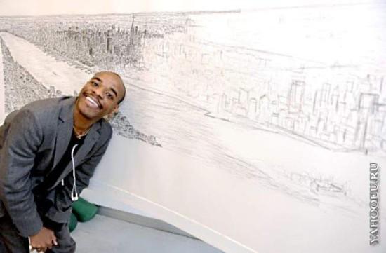 Аутист Стивен Вилтшер нарисовал по памяти огромную панораму Нью-Йорка