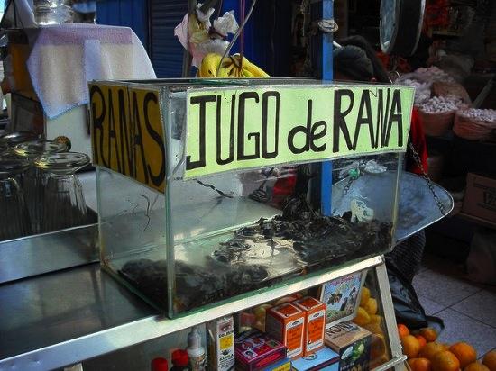 В Перу продаётся сок из лягушек