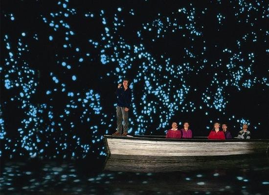 В пещерах Вайтомо живут тысячи светлячков, создающих потрясающий эффект «звёздного неба»