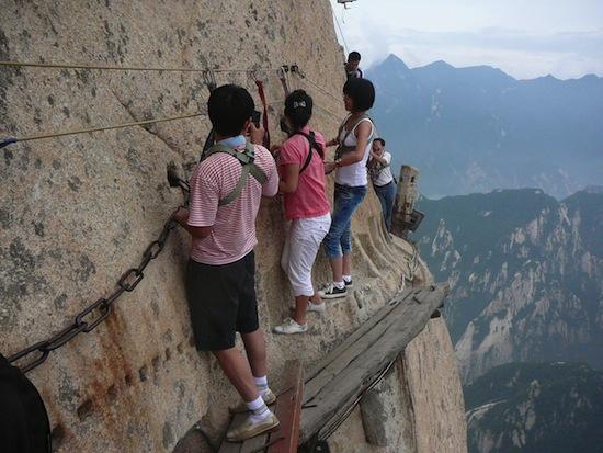 Самая опасная тропа в мире находится в Китае