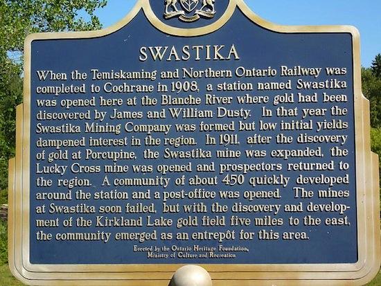 В канадской провинции Онтарио есть город Свастика