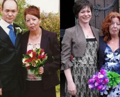 Слева — Барри и Энн, справа — Джейн и Энн