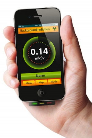 Радиационный фон можно будет измерять с помощью смартфона