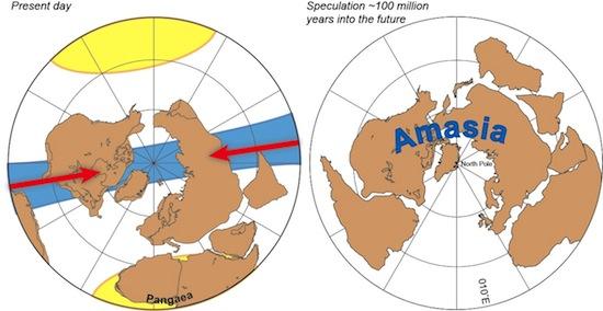 Через 50-200 миллионов лет все континенты Земли сдвинутся в один континент — Амазию