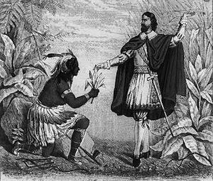 Первый европейский курильщик был арестован по подозрению в одержимости дьяволом