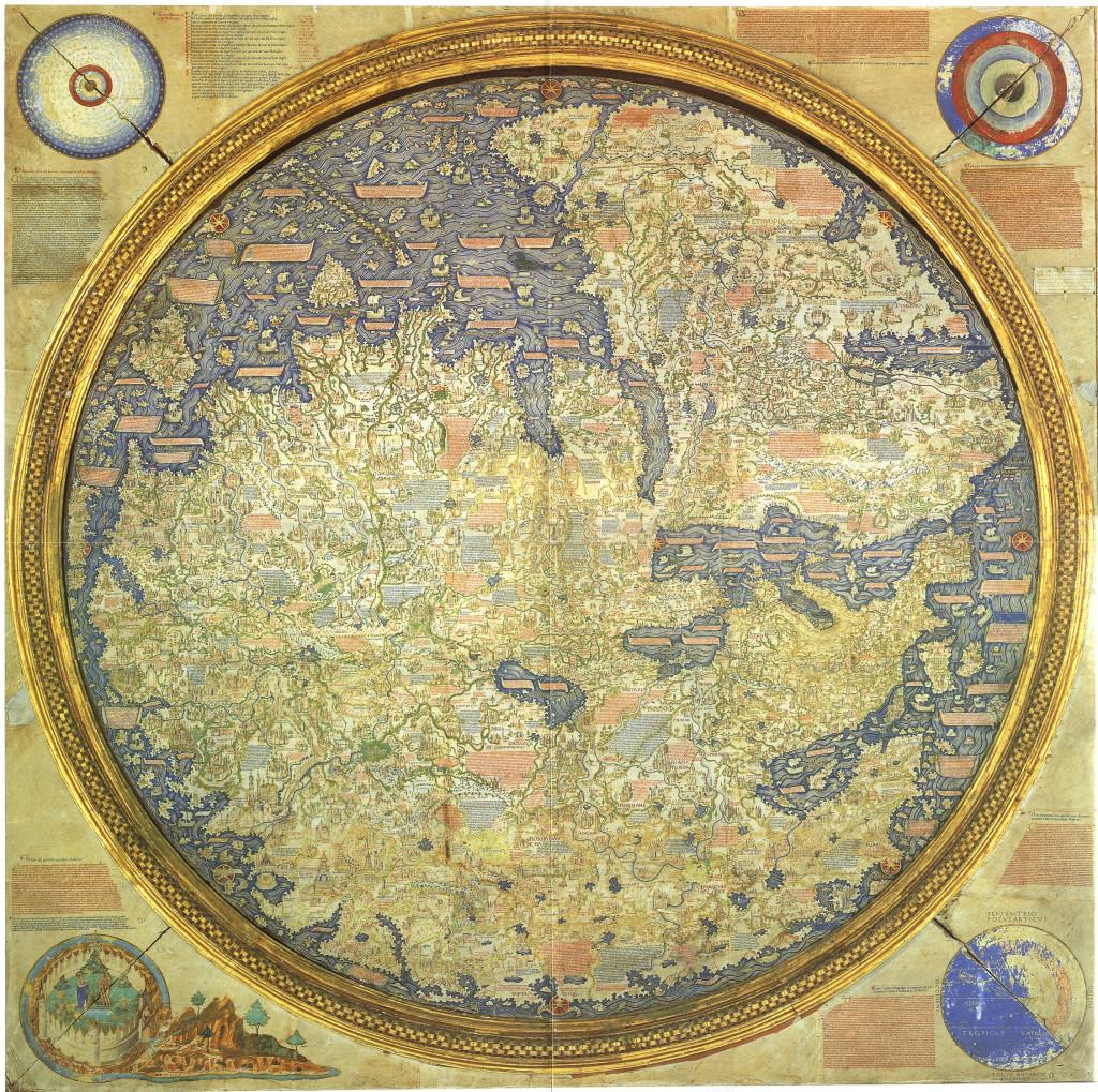 Карта Фра Мауро является первой современной картой мира