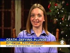Американка Шейна Ричардсон пережила падение с самолёта