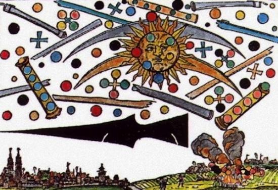 В средневековой живописи нередко можно увидеть «космические» объекты