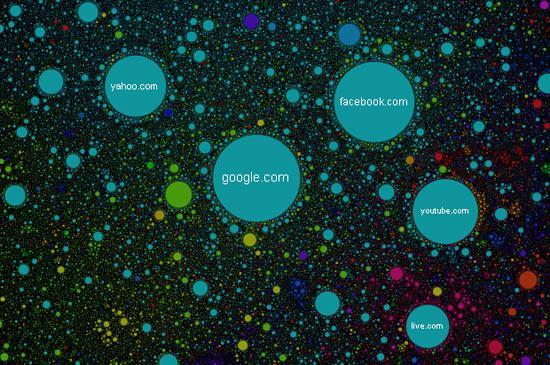 Интерактивная карта интернета