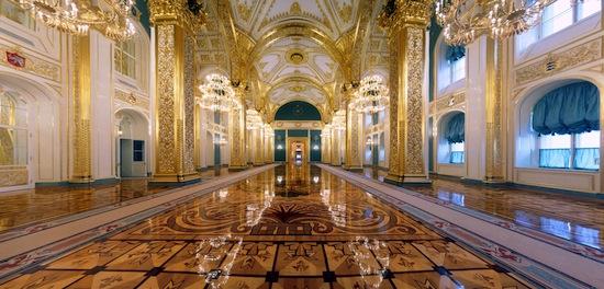 Андреевский зал Большого Кремлевского Дворца.
