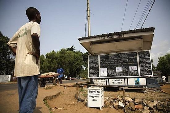 В Либерии есть «оффлайновый блог», который ведётся 12 лет