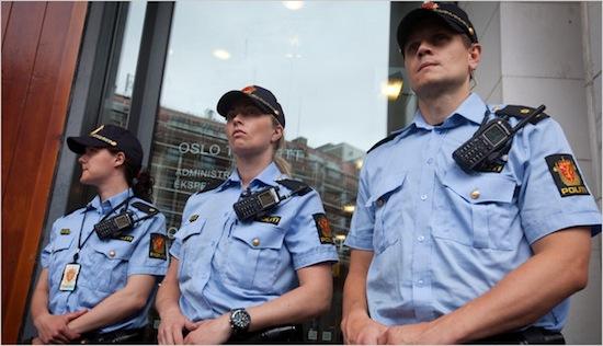В 2011-м году норвежская полиция прибегла к оружию только 1 раз, а в 2010-м — ни разу