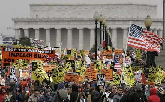 Протесты против войны в Ираке были самыми массовыми протестами за всю историю человечества