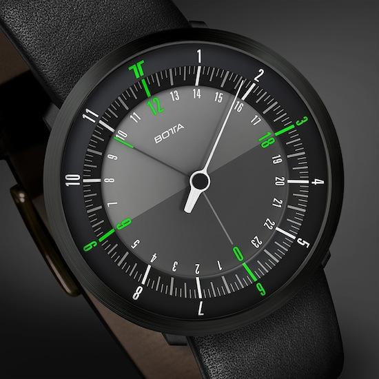 Новые часы DUOGreen от Botta-Design помогают узнать время в тысячахкилометров от вас