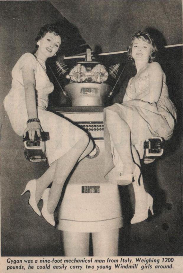 Первый в мире андроид появился в 1957-м году и выглядел странно
