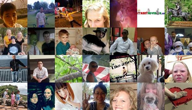 Фотографии профилей всех 1,15 млрд пользователей Фейсбука на одной странице
