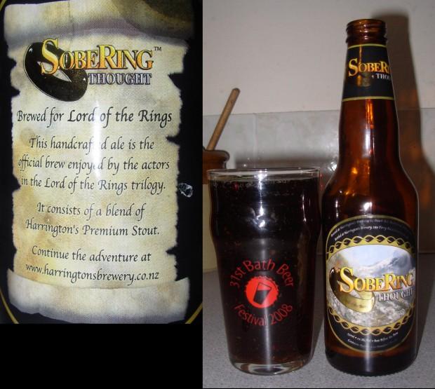Пиво, которое пьют персонажи фильма «Хоббит: Нежданное путешествие», называется «Отрезвляющая мысль»