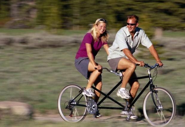 Порно возбуждение от поездки на велосипеде