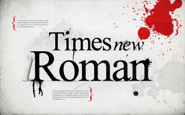 Times New Roman и другие «римские» шрифты основаны на почерке Поджо Браччолини, жившего в 14-м веке