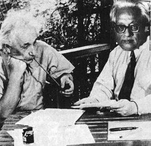 Альберт Эйнштейн и Сатиендра Бозе
