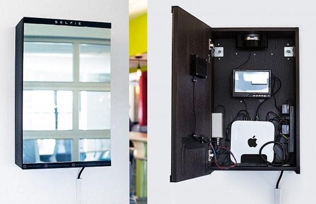 Американское агентство разработало зеркало, которое делает селфи, когда в него смотрят
