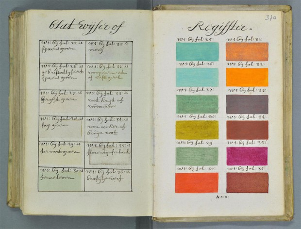 В 17-м веке была написана книга, содержащая все известные цвета и оттенки