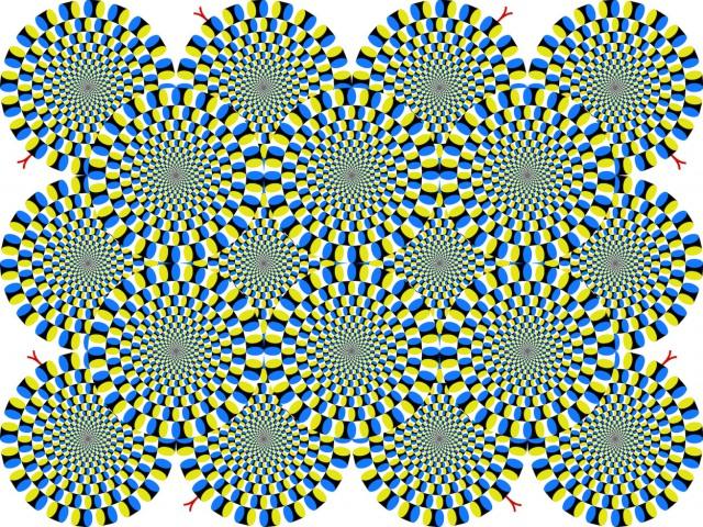 Иллюзия Вращающиеся змеи