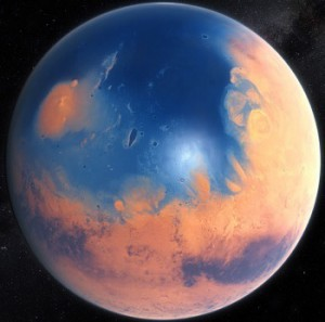 Марс 4,5 миллиарда лет назад