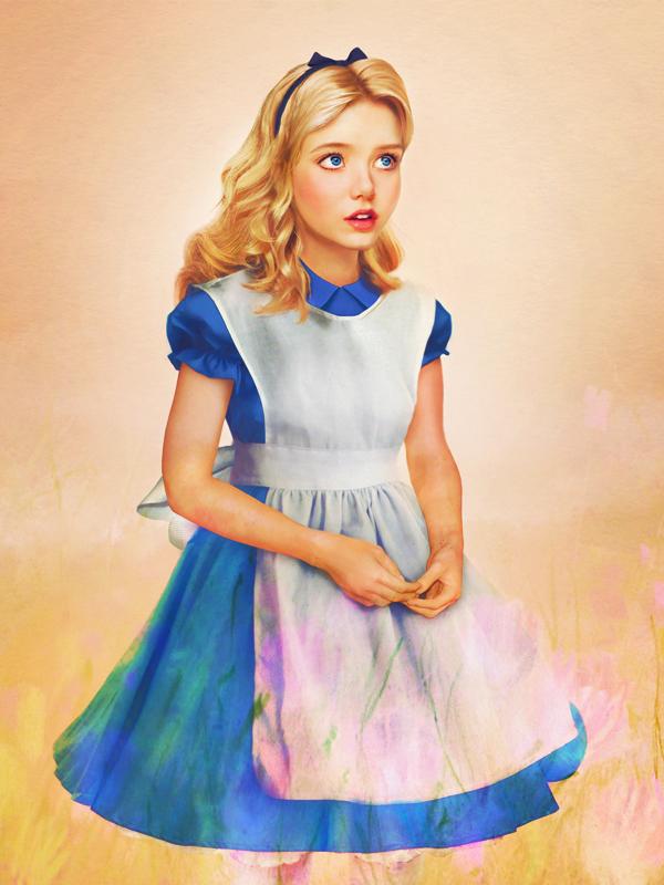 Художница нарисовала диснеевских принцев и принцесс в фотореалистичной манере