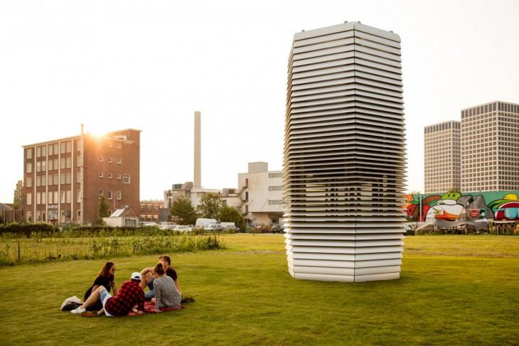 Самый большой воздухоочиститель в мире превращает пыль в алмазы (3 фото + видео)
