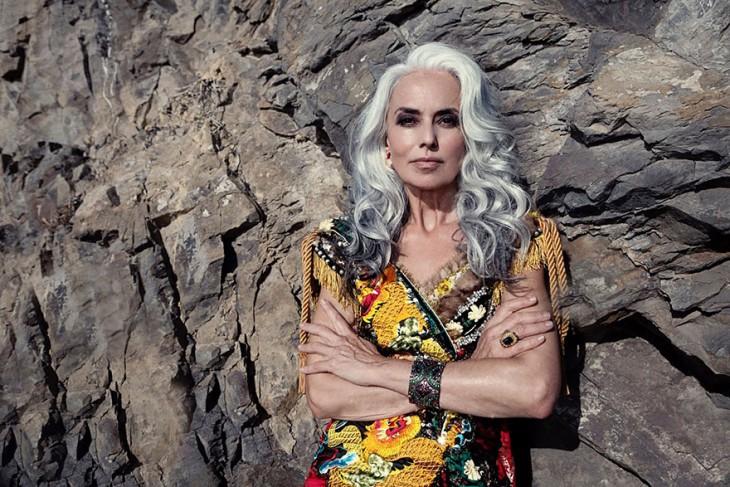 59 летняя бабушка — суперкрасивая и успешная модель