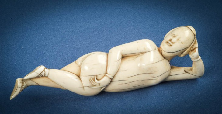 L0037063 Chinese ivory diagnostic doll