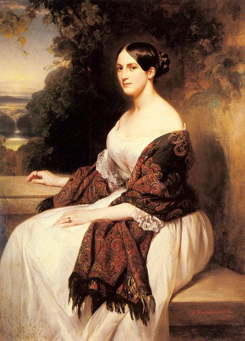 Портрет мадам Акерман, жены главного министра финансов короля Луи Филиппа