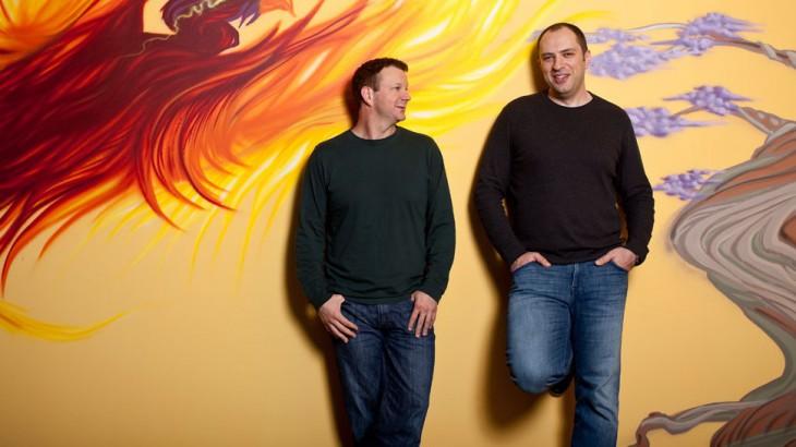 Брайан Эктон и Ян Кум в офисе WhatsApp • Advorts.ru
