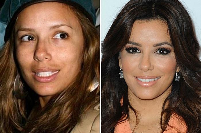 смотреть фото без макияжа знаменитостей