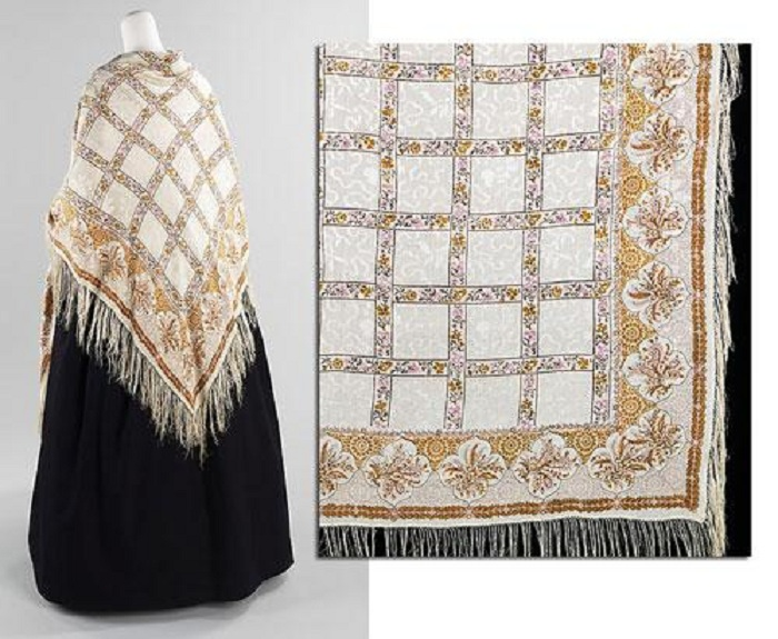 Французская шаль 1840-х годов