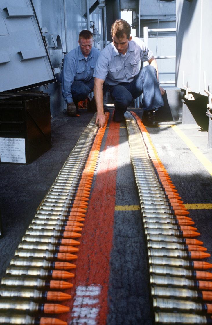 Снаряды с обеднённым ураном для артиллерийского комплекса Mark 15 Phalanx CIWS на борту американского линкора USS Missouri • Academic.ru