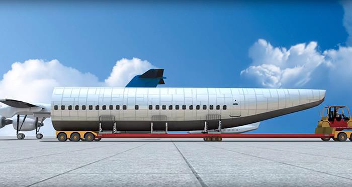 Сконструирован самолёт, пассажиры которого спасутся в случае катастрофы