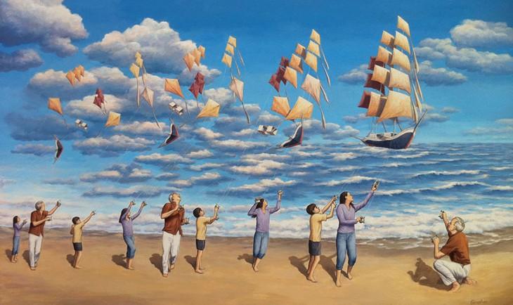25 крышесносных картин иллюзий Роберта Гонсалеса