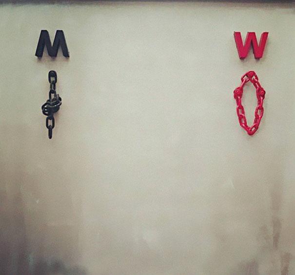 Самые креативные туалетные знаки: 25 фотографий
