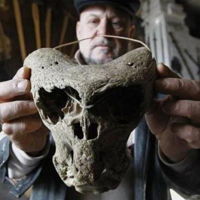 Обладатели черепов похожи нинаодно известное человеку существо