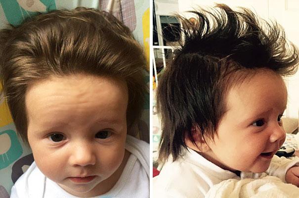 Фото 10 - 15 малышей, родившихся с удивительно роскошными причёсками