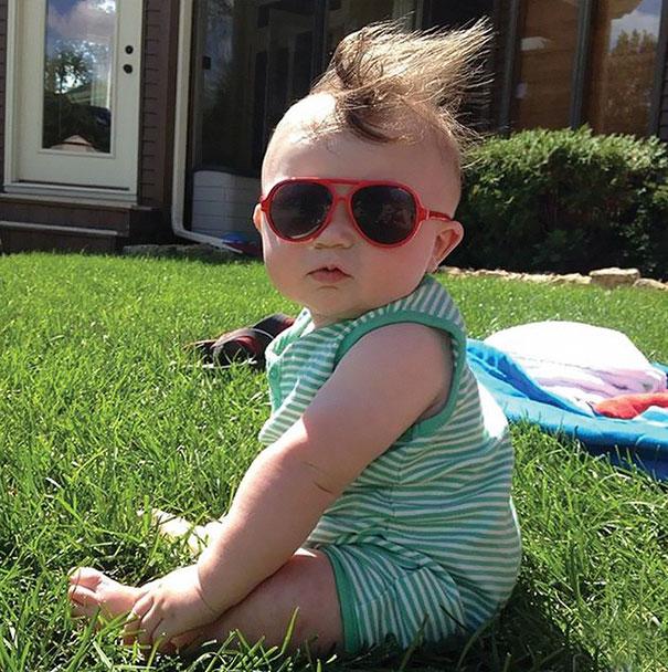 Фото 11 - 15 малышей, родившихся с удивительно роскошными причёсками